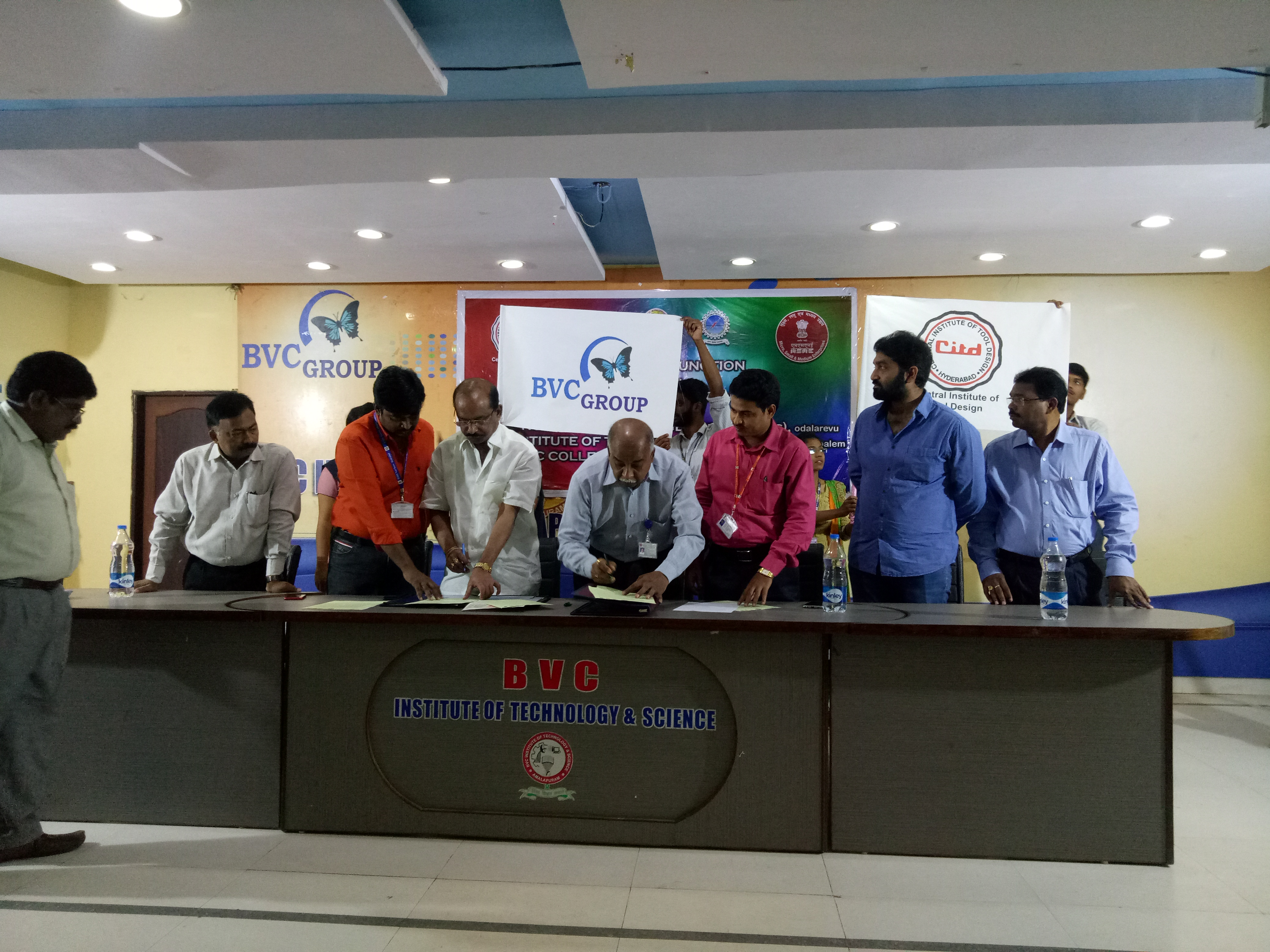 Another Milestone of BVC- MoU with Central Govt organisation MSME TOOL ROOM(CITD) on 6th March 2020, to provide internships and placement opportunities to the BVC Group of students.