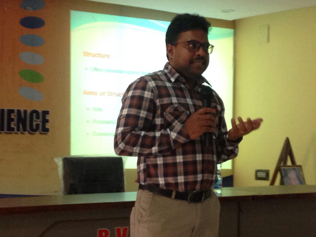 A SEMINAR ON RECENT DEVELOPMENT IN STRUCTURAL ENGINEERING BY SRI.L.PULLAPA RAJU